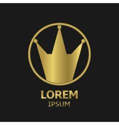 Crown emblem vector