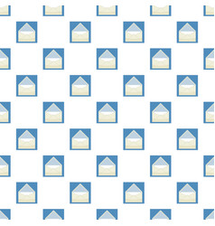 Envelope with sheet of paper pattern vector