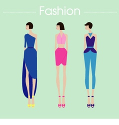 Fashion set dress design vector image