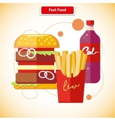 Fast Food Concept vector image vector image