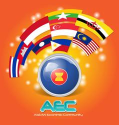 Flag of asean economic community aec 03 vector