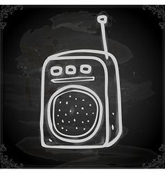 Hand drawn walkie talkie vector