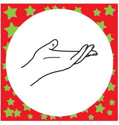 hand open and ready to help or receive vector image vector image