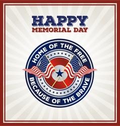 Happy Memorial Day Badge vector image vector image