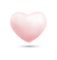 happy valentines day with symbol 3d pink heart vector image