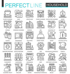 household appliances outline concept symbols vector image