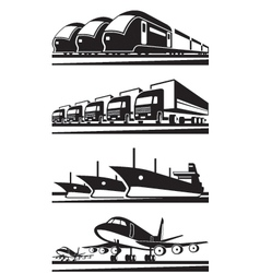 Large cargo transportation vector image vector image