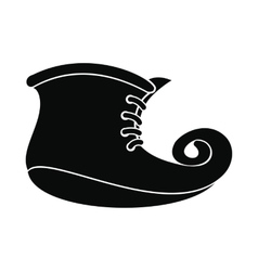 Leprechaun boots black simple icon vector image vector image