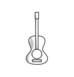 Line guitar acoustic intrument of music player vector