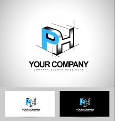 Ph Letters Logo Design vector image