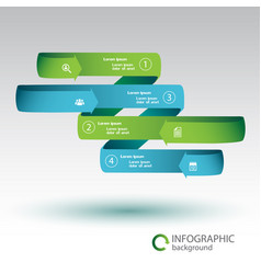 ribbon infographic business concept vector image vector image