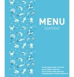 Sea food restaurant menu seafood template design vector