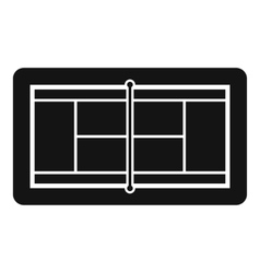 Tennis court icon simple style vector