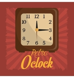 Time clock vintage design vector image
