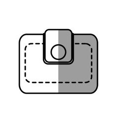 Wallet save money icon shadow vector