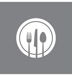 White round plate vector