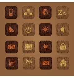 Wood texture computer buttons eps10 vector