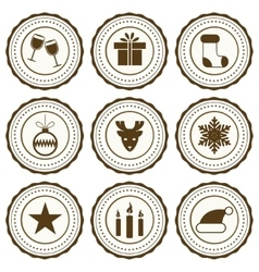 New year celebration icons set vector