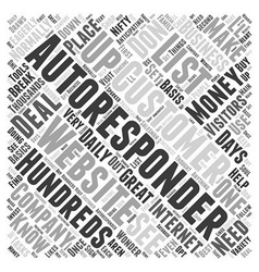 What you need to know about autoresponders word vector
