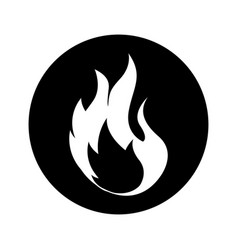 fire flame sign icon vector image