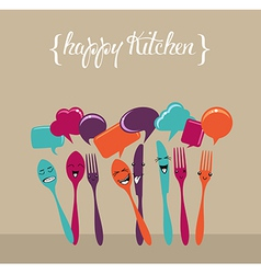 Social media kitchen set vector