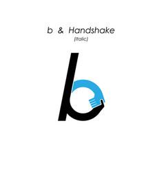 Creative b- letter icon abstract logo design vector