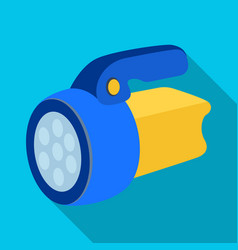 Flashlighttent single icon in flat style vector