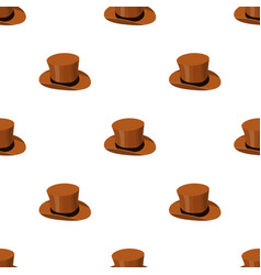 Top hat icon in cartoon style isolated on white vector