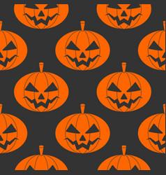 Seamless halloween pattern with pumpkins vector