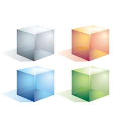 Transparent cubes vector