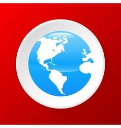 3d globe icon vector