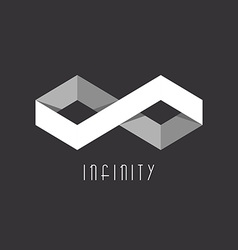 3D Infinity sign of the two rhombus geometric vector image vector image