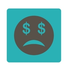 Bankrupt smiley icon from commerce buttons vector