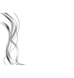 Abstract metal waves design vector