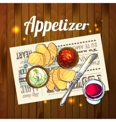 Appetizer and aperitive vector
