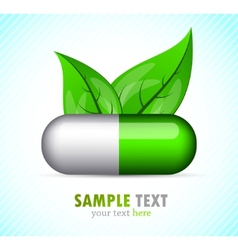 Background with pill vector