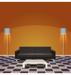 Modern living room vector