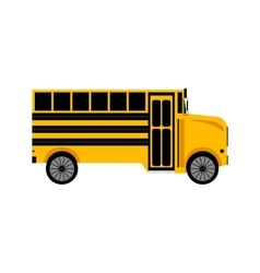 School yellow bus on white background vector