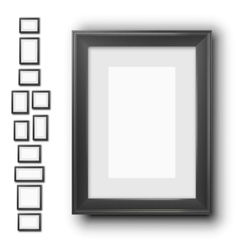Frames blak wood vector