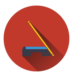 Icon of Step board and stick vector image