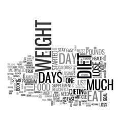 A one day diet let you diet every other day text vector