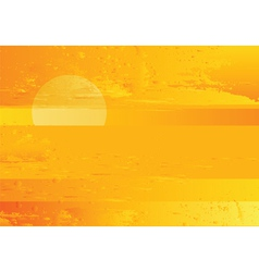 abstract sunset sea grunge background vector image