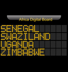 Africa country digital board information vector
