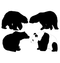 Bear silhouette vector