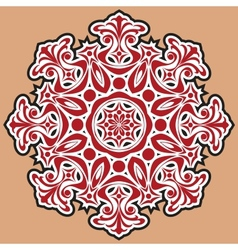 Beautiful lace pattern The circular background vector image