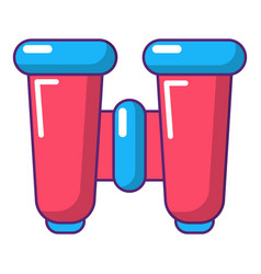 Binoculars explorer icon cartoon style vector