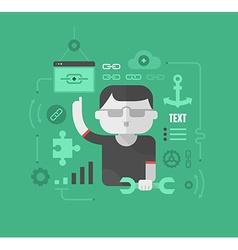 Building Website Links vector image