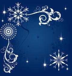 Christmas dark blue background vector image vector image