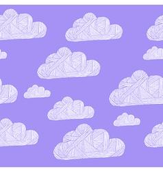 cloud purple vector image vector image