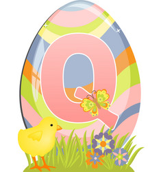 Cute initial letter Q vector image vector image